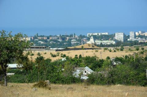 Вид с участка в Севастополе